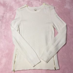 J Crew factory warmspun zip sweater Medium size